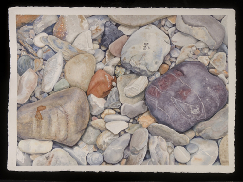 "Yukon Permanent Art Collection 2016, Tourism and Culture, Arts Branch Artist: Cynthia Hunt Title: Heart Rock, Firth River Genre: Painting Year: 2011 List of Materials: Watercolour on Arches 300 lb paper Dimensions: 20.75"" x 28.5"""