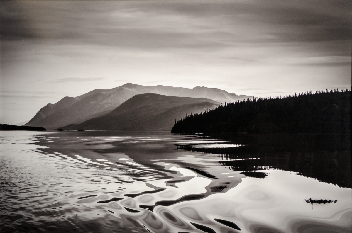 "Yukon Permanent Art Collection 2017, Tourism and Culture, Arts Branch Artist: Christian Bucher Title: Water Like Ink Year: 2014 Materials: Photography printed on Epson Archival Exhibition Fiber Paper Dimensions: 13"" x 19"""