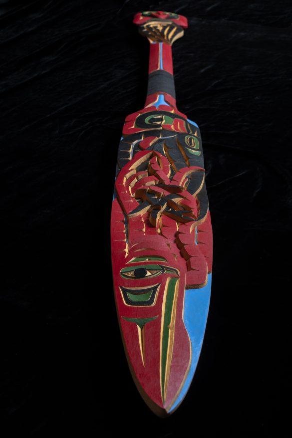 Cedar carving artwork by Yukon Artist Daniel Benjamin Gribben