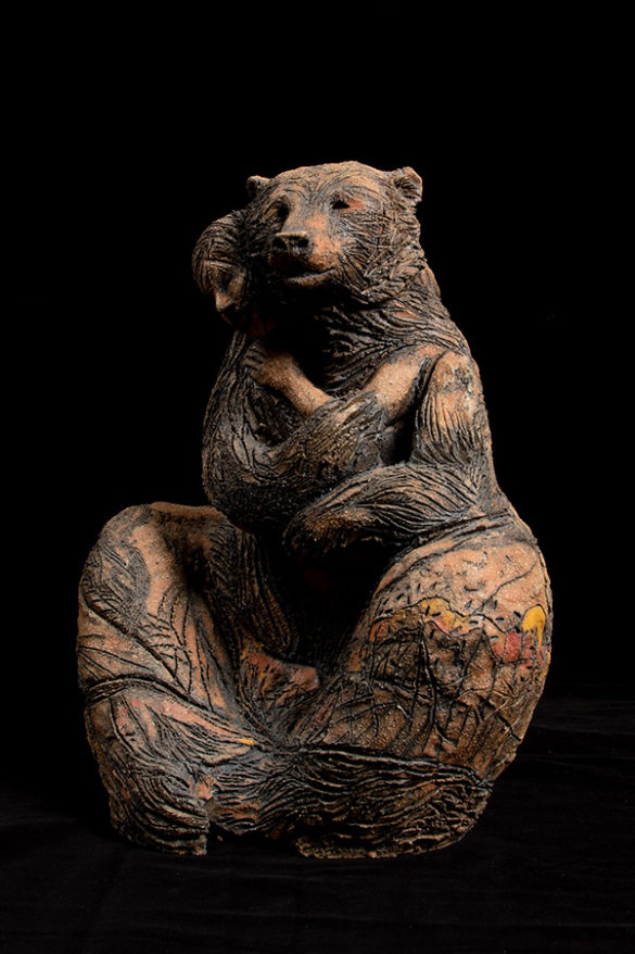 clay sculpture made by Yukon artist Sandra Storey