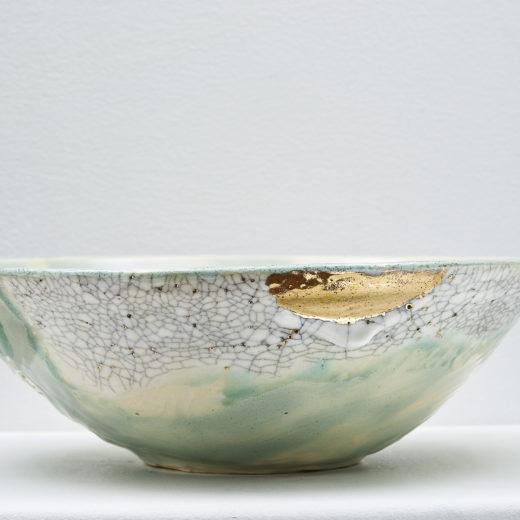 Landscapes of Gold (Bowl) by Yukon ceramic artist Monika Käte Steputh
