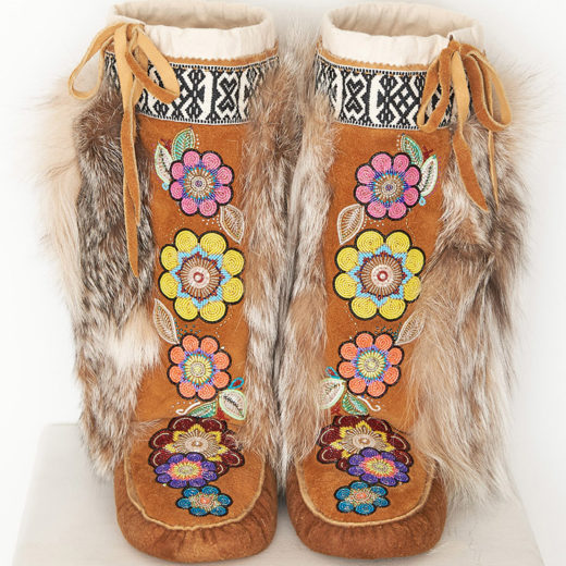 Moose Hide Mukluks by Yukon artist Karrie Brown
