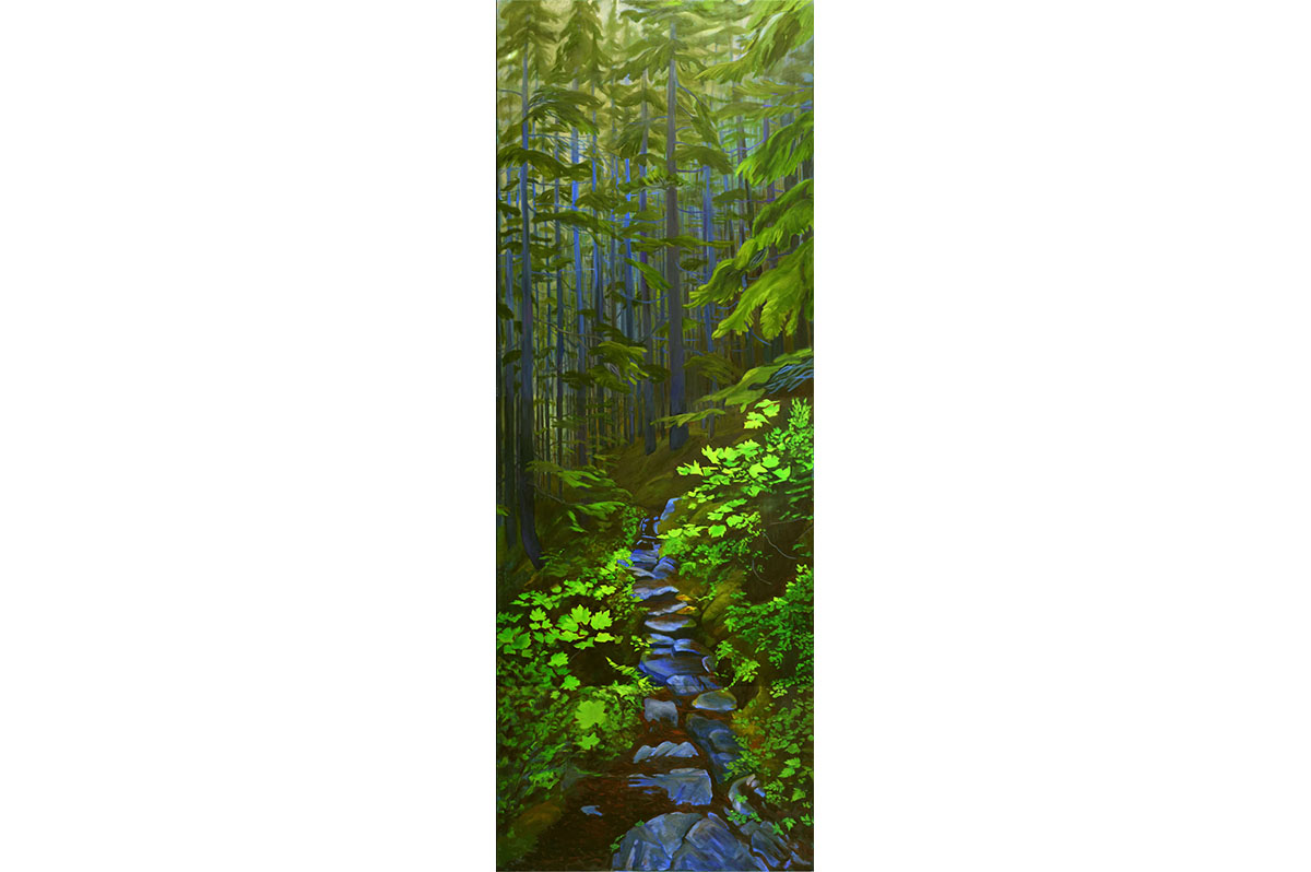 Daphne Mennell - Yukon Artist - Chilkoot Magic in the Coastal Forest-2
