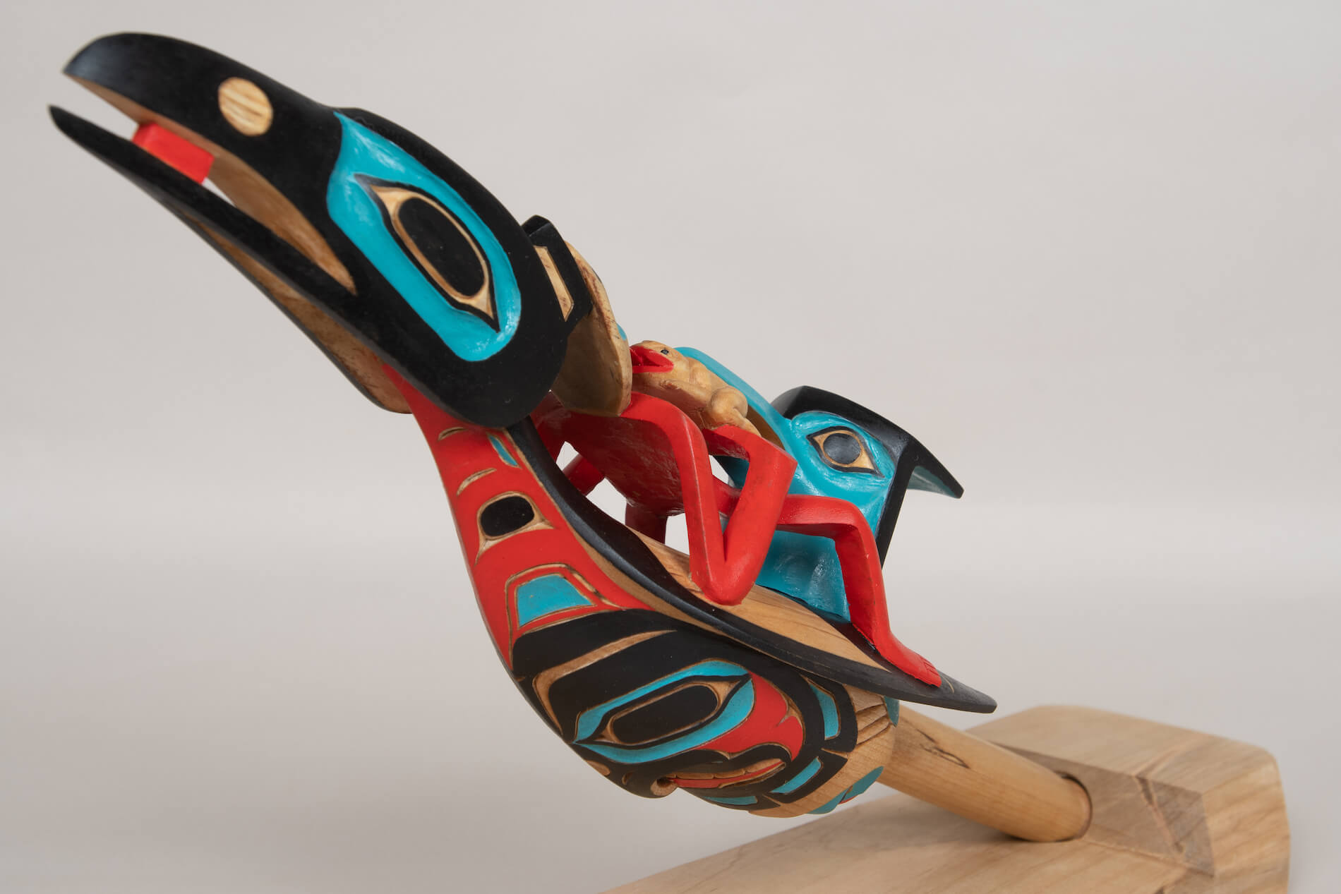 Eugene Alfred - Yukon Artist - Chiefs Raven Rattle - YPAC-1623