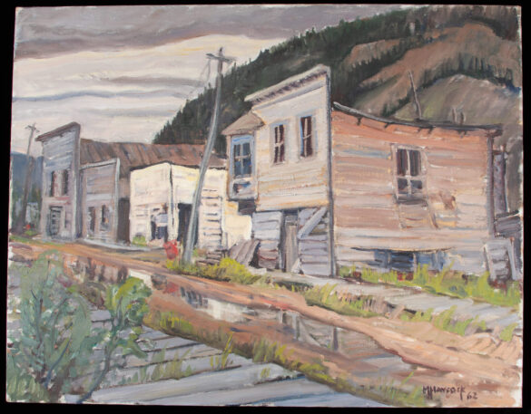 Third Avenue Dawson City an oil painting by Yukon Artist Maurice Haycock