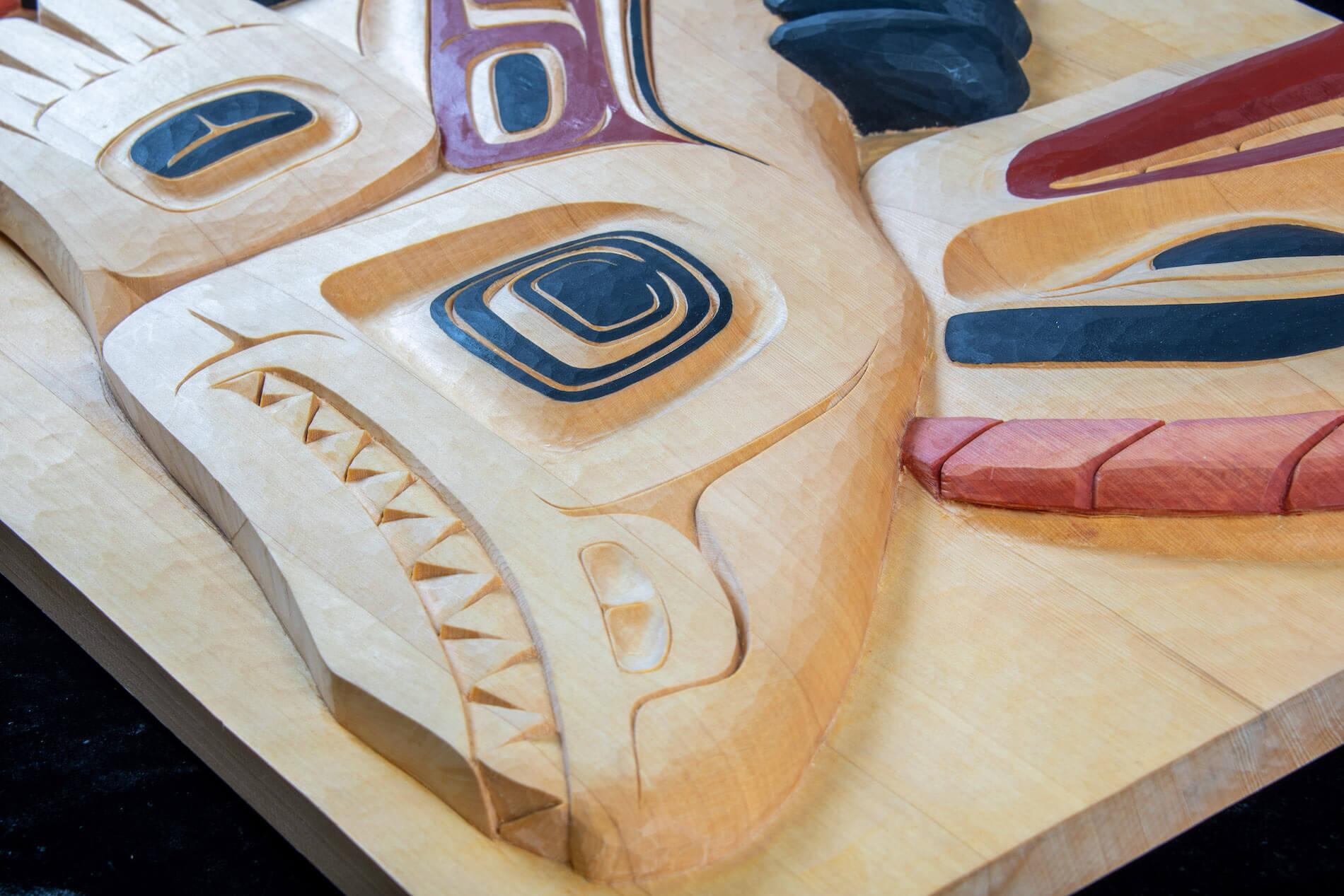 Violet Gatensby Yukon Art Cedar Carving