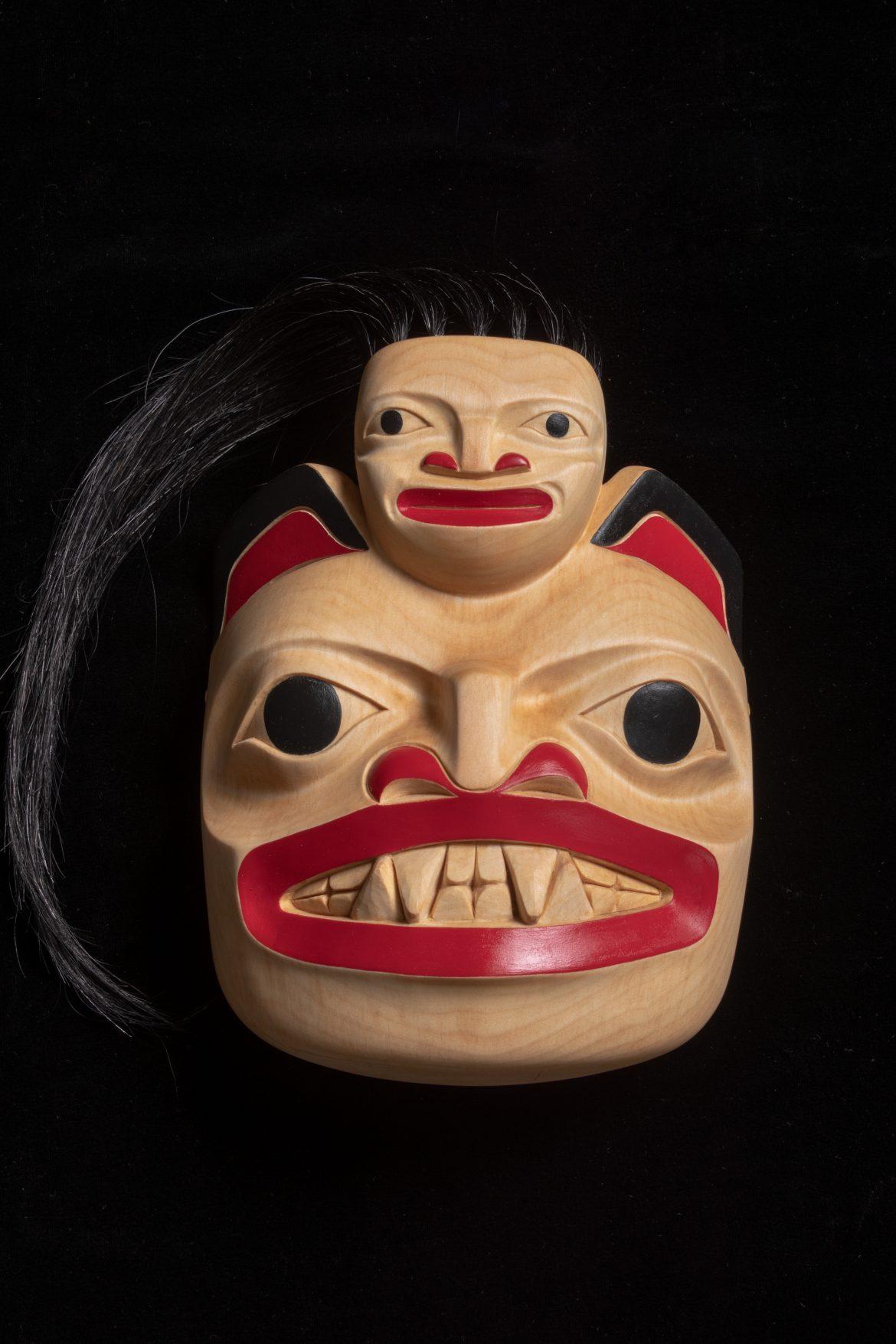Cedar carving artwork by Yukon Artist Lorraine M Wolfe