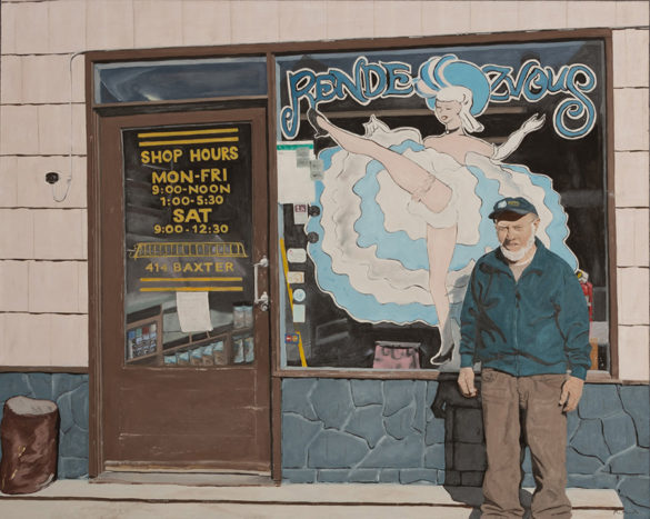 Oil painting by Yukon artist Pam Van Kampen of business owner Gordon Ryder. Part of the Yukon Permanent Art Collection