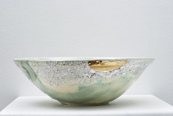 A stoneware bowl by Yukon ceramics artist Monika Käte Steputh